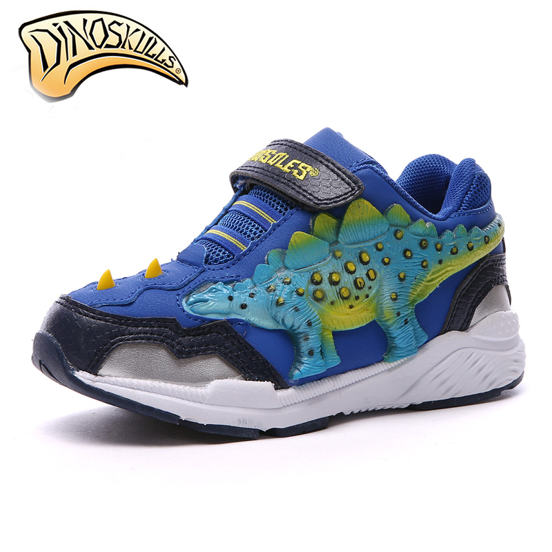 Dinoskulls Kids Sneakers Brand Kids Shoes Boys Sport Sneakers 2018 teenagers sports shoes Children 3D Dinosaurs Sneakers 31-37# children s shoes girls boys shoes led tennis glowing sneakers with luminous sole usb charging magic stickers kids shoes