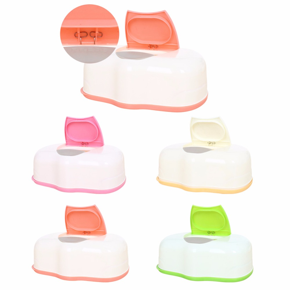 Plastic Wet Wipes Storage Case Box Refillable Container 80 Sheets