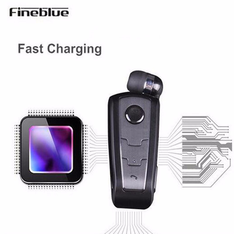FineBlue F910 Wireless Bluetooth Earphone Auriculares Retractable Remind Vibration Alert Wear Clip Hands Free Driver Earphones 12