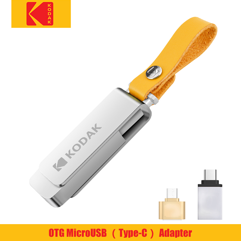Kodak Flash Drive USB3.1Metal Pendrive 256gb 128GB 64GB 32GB 16GB Flash Memory Stick Pen Drive Memoria Cel USB3.0