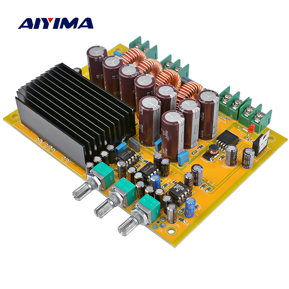 AIYIMA TAS5630 Subwoofer Amplificatore Audio di Bordo Classed 2.1 Canali Digital Sound Amplificatori 150 W * 2 + 300 WAIYIMA TAS5630 Subwoofer Amplificatore Audio di Bordo Classed 2.1 Canali Digital Sound Amplificatori 150 W * 2 + 300 W