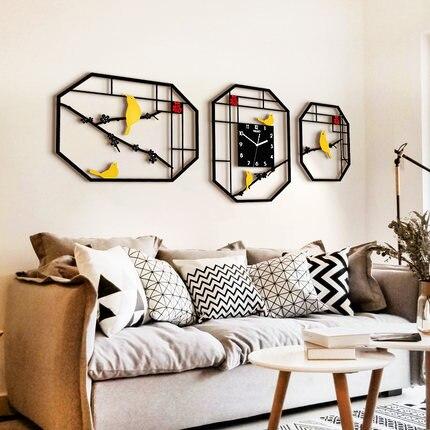 Creative Fashion Clock Personality Chinese Clock Wall Clock Living Room Modern Minimalist Decorative Art Wall Charts