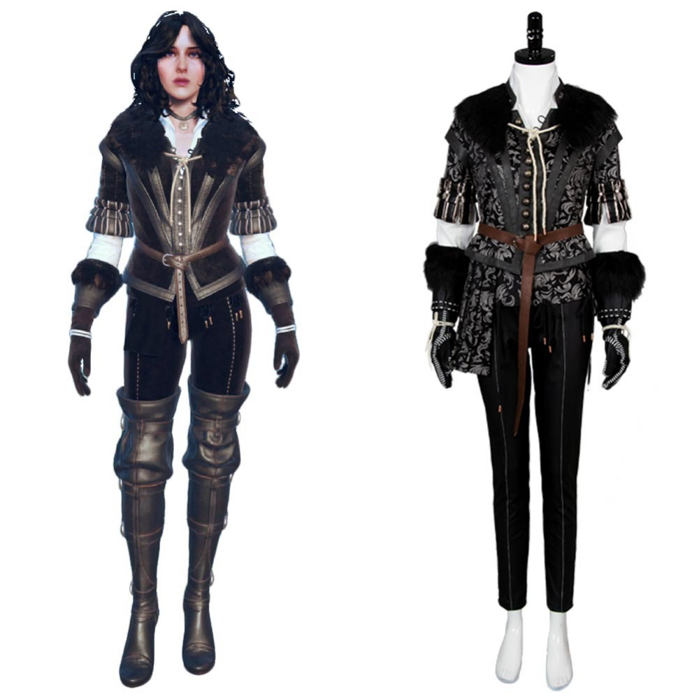 Yennefer Outfit Cosplay Costume Hallween Carnival Full Sets Uniform Costumes For Women Girls Cosplay title=