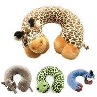 New Fashion U Shape Neck Pillow Decorative Pillow Home Cushion Cartoon Animal Neck Pillow For Travelling