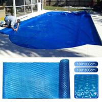 1PCS Blue Swimming Pool Cover 400 Micron 12 mil Solar Blanket Customized Size and Shape Easy Frame Pools Dustproof Cover