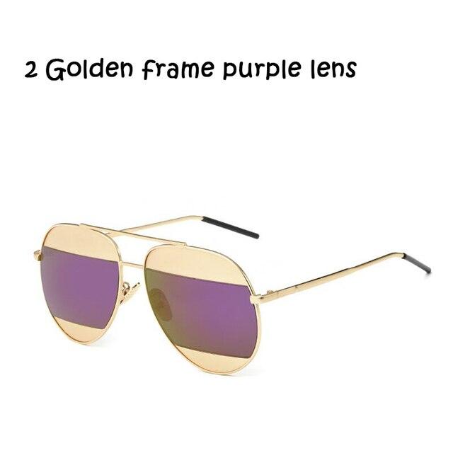 4bdfc3350b1 sunglasses Glasses Eyeglasses UV400 fashion style unisex lady vintage round  shaped lenses metal frame double color design wh