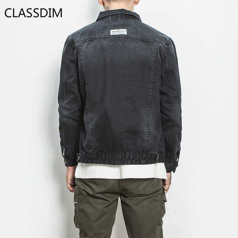 CLASSDIM Men Denim Jacket Coats New Spring Autumn Men Cotton Jean Jackets Good Quality Slim Casual Denim Jackets jean coats 5XL