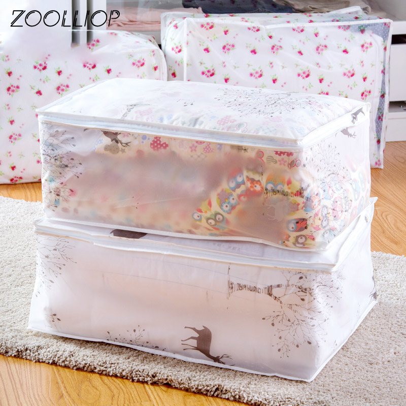 Fashion hot 2018 Household Items Storage Bags Organizer Clothes Quilt Finishing Dust Bag Quilts pouch Washable quilts bags