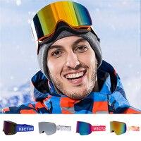 Ski Goggles Double Layer UV400 Anti Fog New Big Lens Ski Mask Glasses Winter Professional Skiing