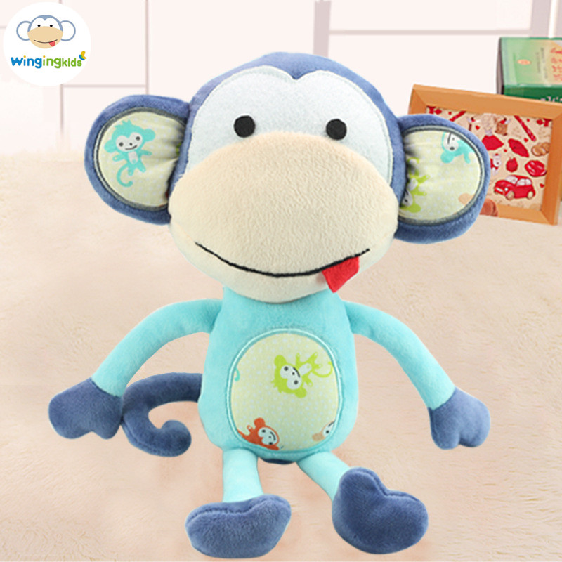 New 15*30cm Infant Soft Appease Monkey Playmate Calm Doll Baby Toys Elephant Pillow Plush Toys Stuffed Doll Girl Friend Gift dali 17 1 3а