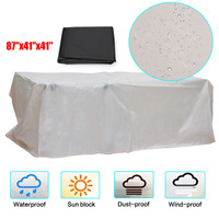 87''x41''x41'' Waterproof Dustproof Cover Furniture Sofa Piano Table Chair Washing Machine Cover Dust Proof Cover Black Khaki