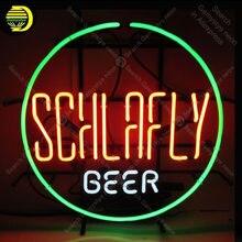 Sinal de néon para schlaville cerveja néon lâmpada tubo vidro decoração bar cerveja pub sinal do windows artesanato hotel anuncio luminoso dropshipping