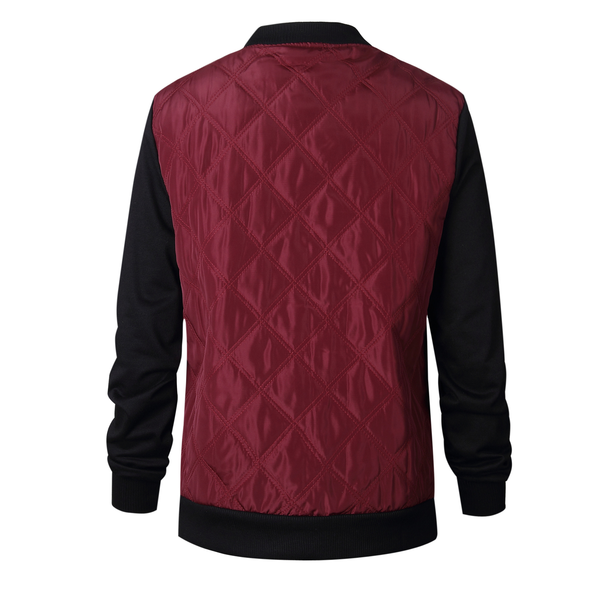 HTB1h9bWFkyWBuNjy0Fpq6yssXXa8 Plus Size Autumn Winter Fashion Slim Women's Jacket Zipper Cardigan Splice Bomber Jackets 2019 Long Sleeve Bodycon Coats Female