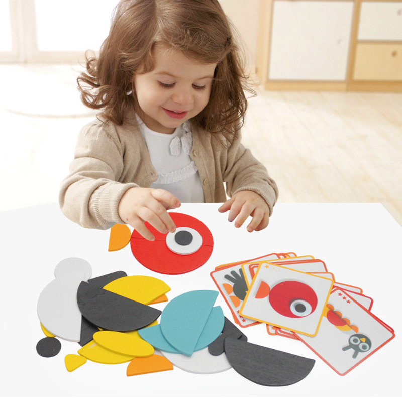 3 Kinds DIY Puzzle Board Game For Children Best Gift High Quality Wooden Funny Game with