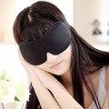 3D EYE MASK CUBIERTA de LA CORTINA BLINDFOLD DORMIR del RECORRIDO SUAVE ESPONJA BLINDER PARCHE en el OJO
