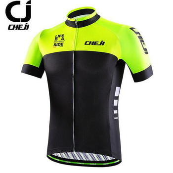 CHEJI Racing Sport Bike Jersey Tops MTB Bicycle Cycling Clothing Summer Cycling Wear Clothes Cycling Jersey cheji cycling men s long sleeves jersey pants suit black white xl