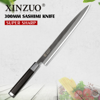 XINZUO 12 zoll sashimi messer 2 schicht VG10 verkleidet stahl küchenmesser Einseitig lachs/filletin messer Ebenholz griff mit scheide