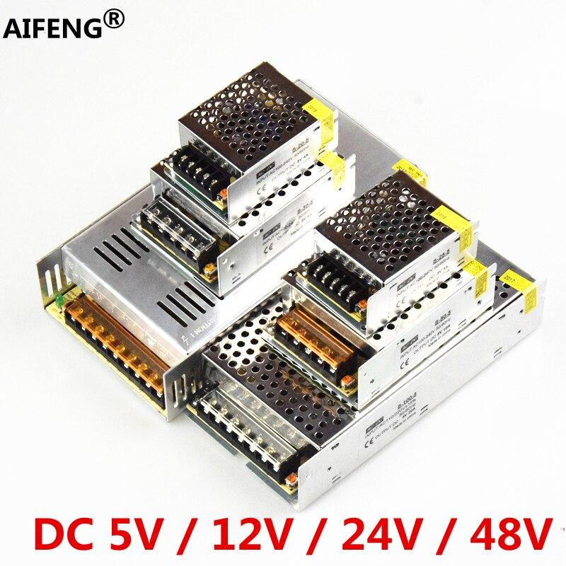 AIFENG alimentation à découpage 110 V/220 V à 5V 12V 24V 48V alimentation LED alimentation CCTV/bande de LED AC à DC source adaptateur d'alimentation