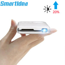 SmartIdea Android 7.1.2 5000mAh Battery Handheld Mini LED Projector WiFi Bluetooth DLP 1080P Beamer Support AirPlay Miracast AC3(China)