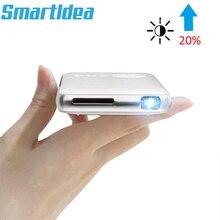 SmartIdea Android 7.1.2 5000 mAh Батарея Ручной мини светодиодный проектор Wi-Fi Bluetooth DLP 1080 P Бимер Поддержка беспроводной адаптер AC3