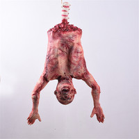 Halloween Decoration Scary Ornament Bloody Half Male Ghost Corpse Halloween Decor Horror Props Simulation Latex Male Remains