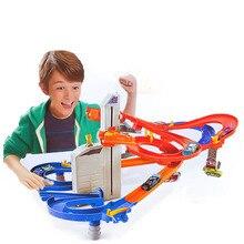 Hot wheels Супер Track Pack Model Cars Детей Пвх Слот-Машине Toys Hot wheels Автомобиля Модели Подарок Для Детей DIY Educationa Toys CDR08
