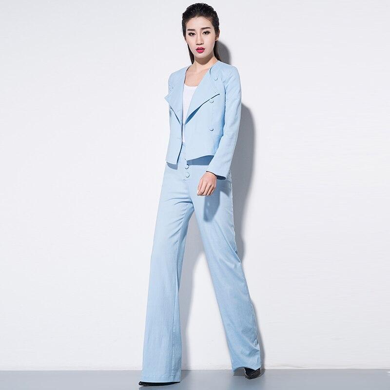 Aliexpress.com : Buy women's Blazer & Suits Cotton two piece suit ...