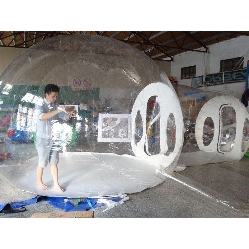 Tente gonflable transparente de camping de tente adaptée aux besoins du client