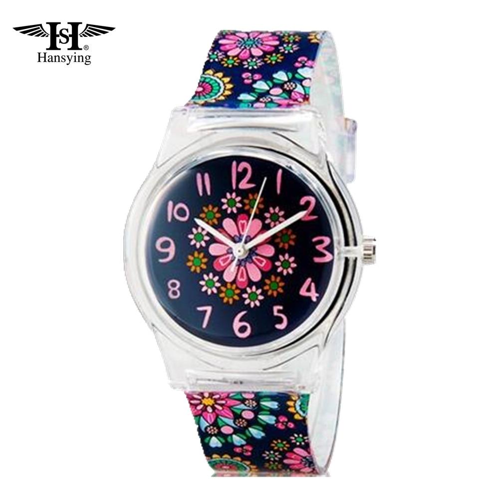 Hansying Mini Student's Kid's Women 's Flowers Analog Quartz Wrist Watch