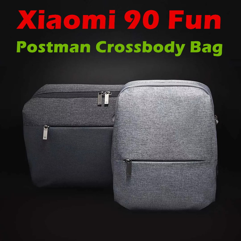 2017 New Xiaomi 90 Fun Postman Bag Crossbody Bag Waterproof For Men Women Smart Home Xiaomi 90 Fun Bag Backpack Two colors рюкзак xiaomi 90 fun lecturer 13 3 white