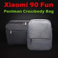 2017 New Xiaomi 90 Fun Postman Bag Crossbody Bag Waterproof For Men Women Smart Home Xiaomi 90 Fun Bag Backpack Two colors