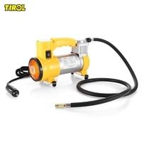 TIROL T10705 Portable Super Flow 12V 150PSI Car Air Pump Air Compressor With Light And Beacon