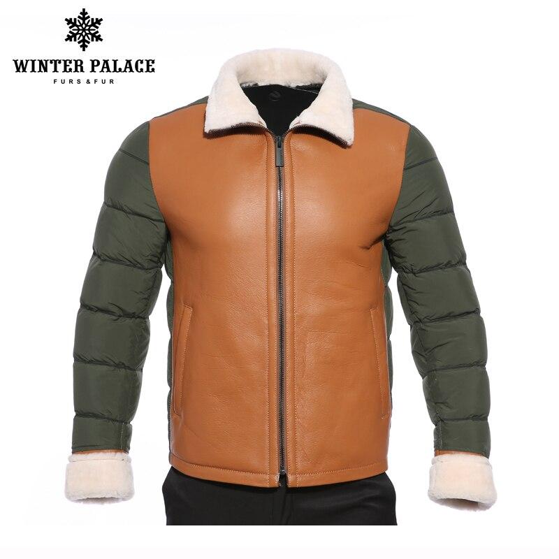 High-grade imports fur coat men Fashion Slim Fur winter jacket men Mandarin Collar mens sheepskin coat Multicolor elements