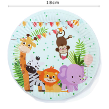 10Pcs/Lot Jungle Theme Birthday Party Disposable Plate Decorations  Story Supplies