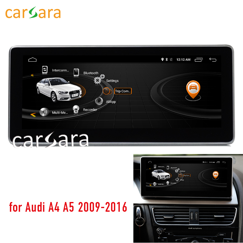 2G RAM 10.25 Android touch screen for Audi A4 A5 2009 2016 with Audi concert/symphony radio GPS Navigation multimedia player