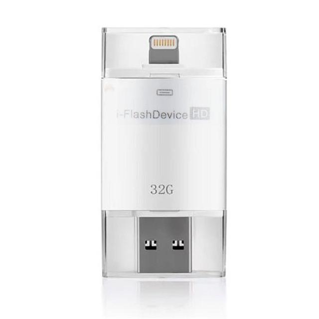 Novo 2 em 1 Protable 32G de Memória de Vários USB Relâmpago 2.0 leitor de cartão para iphone 5/5s/5c/6 6 s plus para ipad2/3/4/air vah74 t18 0.35