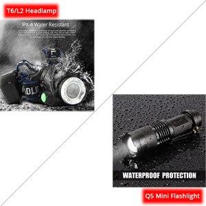 Image 3 - ไฟหน้าแบบชาร์จไฟได้ Super Bright T6/L2 ซูมไฟหน้ากันน้ำไฟฉายไฟฉายใช้แบตเตอรี่ 2*18650 (ไม่รวม)