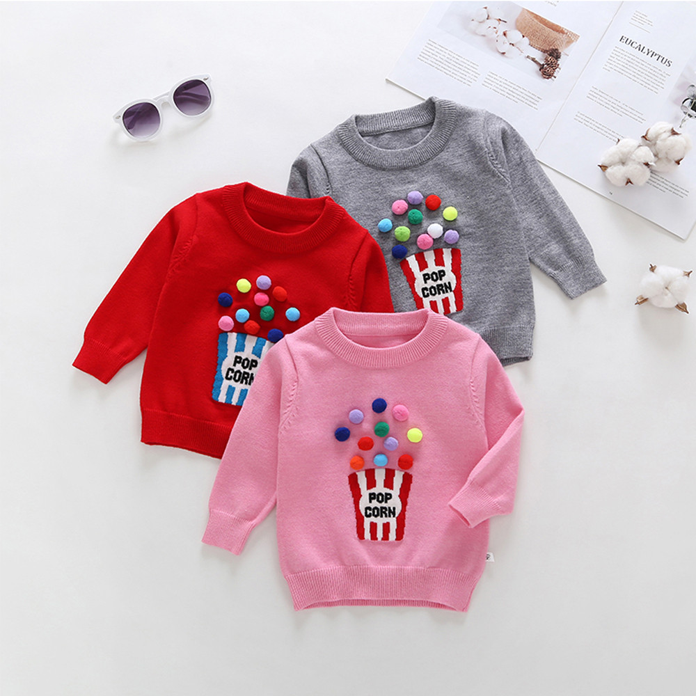 1-4 T Kleinkind Kinder Baby Mädchen Outfits Pullover Pullover Tops Pullover Mantel Bluse Baumwolle Casual Langarm Pullover