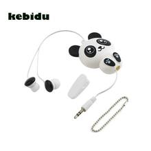 Kebidu 3.5 مللي متر السلكية لطيف الباندا قابل للسحب سماعات سماعات سماعات ل هاتف ذكي MP3 هدية عيد ميلاد للطفل