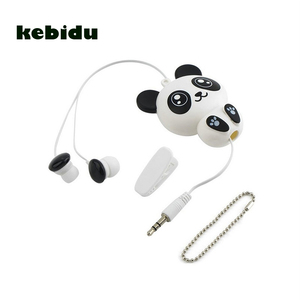 Image 1 - Kebidu 3.5mm Wired חמוד פנדה נשלף אוזניות אוזניות אוזניות חכם טלפון MP3 יום הולדת מתנה עבור ילד