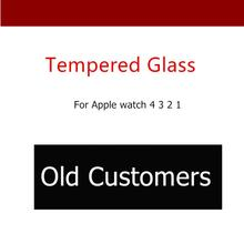 CRESTED Full Tempered Glass For Apple Watch 4 44mm 40mm iwatch band 42mm 38mm Screen Protector Watch case for Apple watch 3 2 1