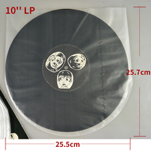 NEW 50PCS Antistatic Clear Protect Plastic 10'' LP Vinyl Record Inner Sleeve Dustproof 25.5X25.7cm No seal