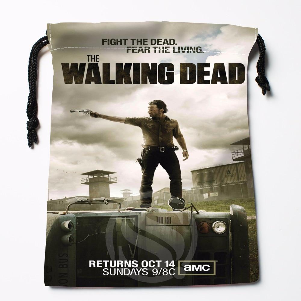 Fl-Q8 New The Walking Dead Season #3 Custom Logo Printed  Receive Bag  Bag Compression Type Drawstring Bags Size 18X22cm 711-#F8