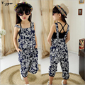 New Kids Clothes For Girls Fashion Girls Dresses Summer 2017 Floral Bohemian Tank Tops Children Clothing
