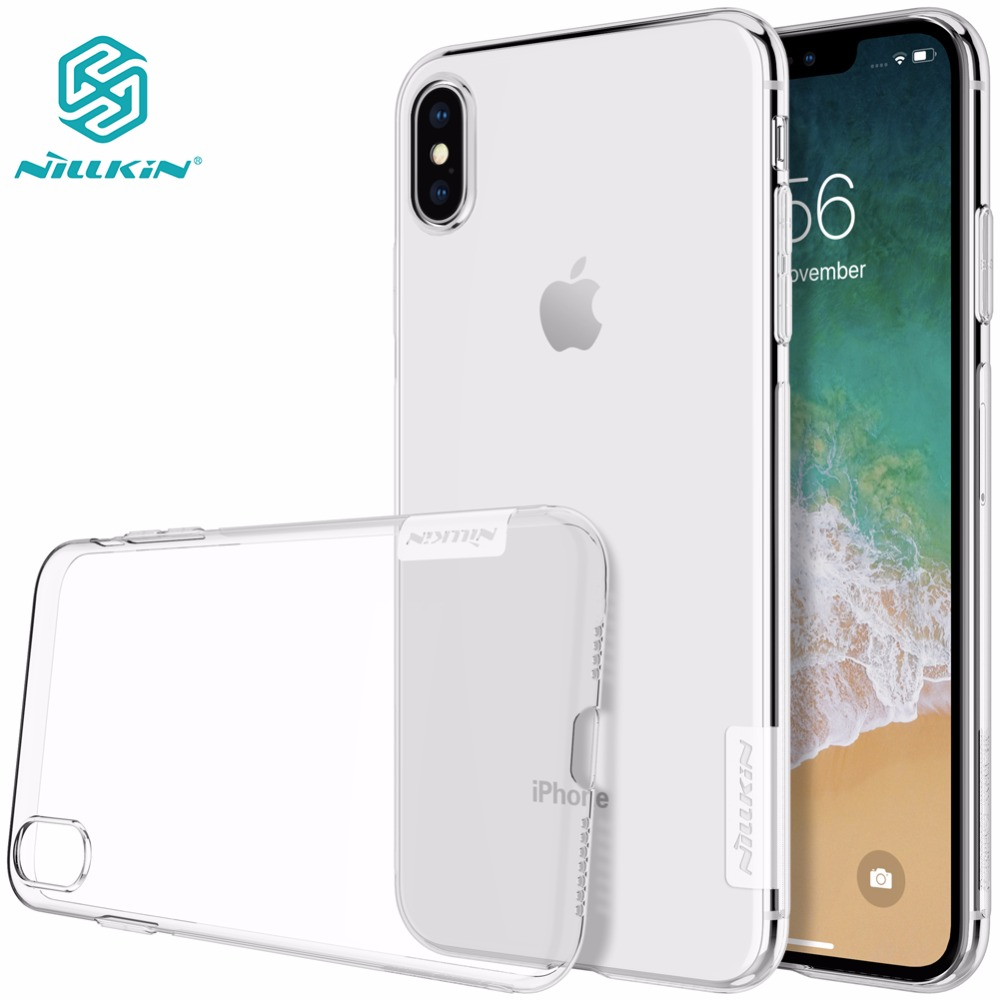 Футляр для iphone XS Max NILLKIN Nature TPU Прозорий м'який задній чохол для iphone xs max x xr 5 s se 6