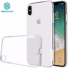 Case untuk iPhone X Max NILLKIN Nature TPU Transparan Soft Back Cover Case For iPhone X Max X XR 5 S SE 6(China)