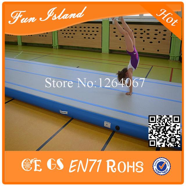 Frete Grátis 15x2 m China Fornecedor Fábrica de Tapete de yoga Tapete De Ginástica Ar Pista Trilha de Ar Inflável Para venda Com Bomba