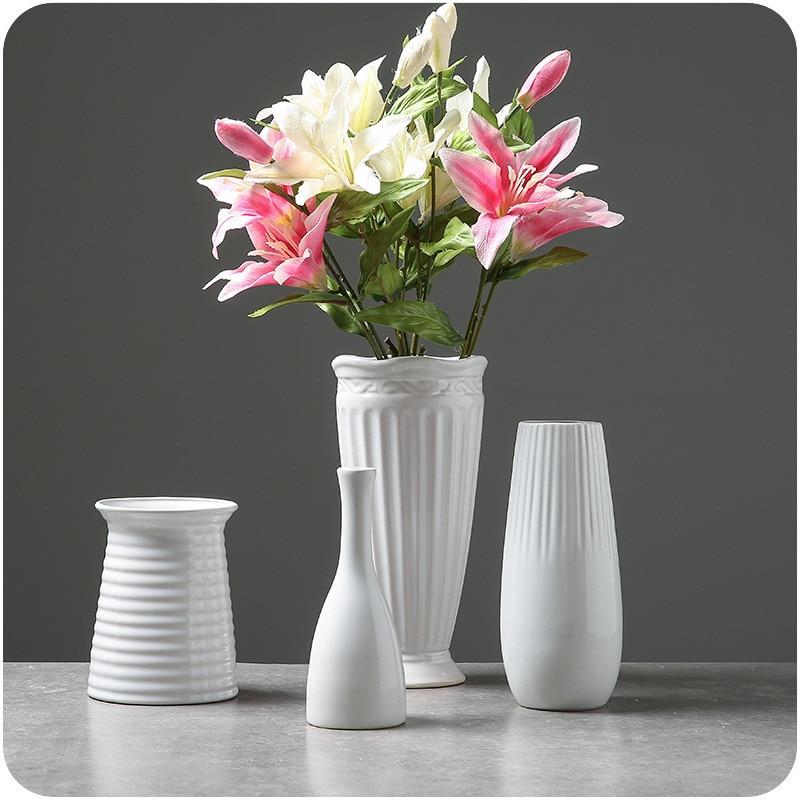 White Ceramic Vases 3