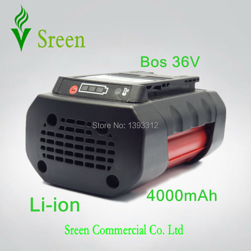 4000mAh New Spare Rechargeable Lithium Ion Power Tool Battery Replacement for Bosch 36V BAT810 BAT836 BAT840 D-70771 2607336108 5pcs lithium ion 3000mah replacement rechargeable power tool battery for bosch 36v 2 607 336 003 bat810 bat836 bat840 36 volt