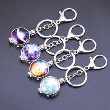 Aromatherapy Keychain Pendant New DIY Luminous Dark Star Glass Piece Stainless Steel diffusion Key chain Fashion